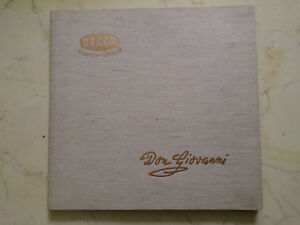 Mozart Don Giovanni Allemand Or Orange Decca 4LPs 1956