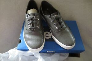 Women Keds Champion Metallic Linen Gym Shoes Sneaker Size 6 1/2 New