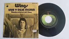 """Paul McCartney WINGS """"Live And Let Die 7"""" vinyl SPAIN Beatles"""
