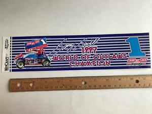 World of Outlaws Champion #1 Sammy Swindell 1997 Sprint Car racing decal sticker