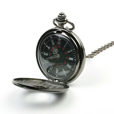 Steampunk Retro Vintage Mechanical Chain Quartz Pocket Watch Roman Pattern