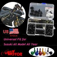 CNC Alloy Motorcycle Complete Fairing Bolt Kit Bodywork Screws Nuts For SUZUKI