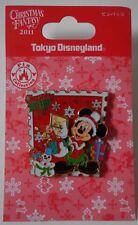 Disney Tokyo DisneyLand TDL Christmas Fantasy Mickey Mouse Pin