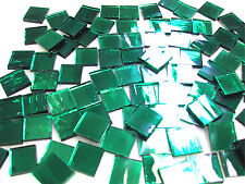"""110 Mosaic Tiles 1/2"""" Glistening Sage Green Mirrors Stained Glass Mirror"""