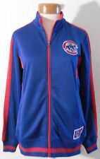 NWT Majestic Chicago Cubs Womens Full-Zip Logo Track Jacket M Blue/Red MSRP$70