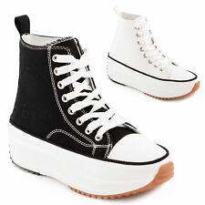 Scarpe donna da ginnastica platform stringate zeppa sneakers TOOCOOL HF989