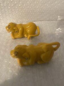 Pair VTG Burger King 1994 Disney The Lion King Simba Figure Figurine Wind Up Toy