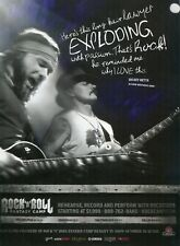 2010 Print Ad of Rock N Roll Fantasy Camp w Dickey Betts Allman Brothers Band