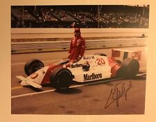 Emerson Emmo Fittipaldi Signed 8 X 10 Indianapolis Indy 500 Autographed 1989