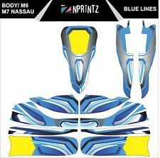 M6 BLUE LINES FULL KART STICKER KIT TO FIT M6 BODY - KARTING