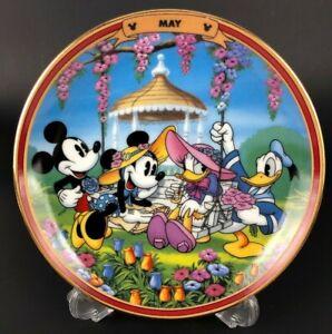 Walt Disney Collector Plate MAY Bradford Year Fun Mickey Donald Minnie LIMITED