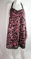 New-Size 6P-Petite-AnnTaylor LOFT-Womens Summer Dress/Cover Up-Halter-Ikat-Pink