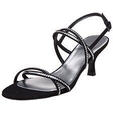 Stuart Weitzman 9640 Women's Black Wattage Sandal Sz 8.5 $395