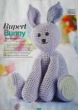 Toy Crochet Pattern. Rupert Bunny BY DIANA bensted
