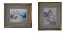 "Rare 1899 Joseph A. Kahler Watercolors ""San Carlos Cathedral"" & ""Carmel Mission"""