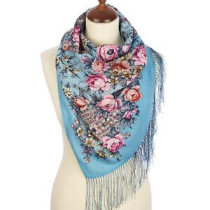 Women's scarf 100% wool Pavlovo Posad