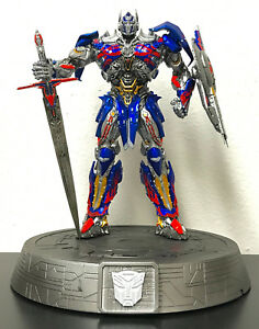 """Transformers The Last Knight Optimus Prime 12"""" Statue Phone Dock iPhone Galaxy"""