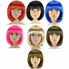 NEW LADIES WOMENS FASHION SHORT BOB STYLE FULL WIG FANCY DRESS PARTY COSPLAY