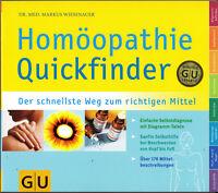 Homöopathie Quickfinder, Markus Wiesenauer, GU, UNGELESEN, wie neu, SELBSTHILFE