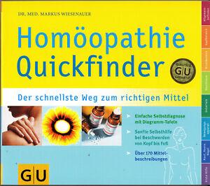Homöopathie Quickfinder Auflage 2015/16, M. Wiesenauer, GU, UNGELESEN, wie neu