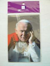 Cartolina 3D Giovanni Paolo II Nuova in confezione
