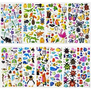 SAVITA 3D Stickers for Kids & Toddlers Puffy Stickers Cute Animal Stickers 48...
