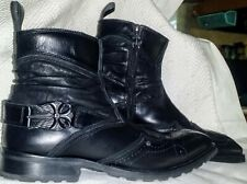 MARK NASON LOUNGE Black Leather Boots MEN 7.5 ROCKER FLYBE RARE  Goth 7 1/2 NICE