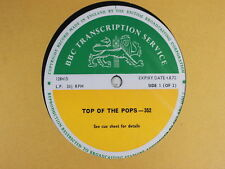 BBC 352 Transcription Disc TOP of POPS Live T REX MARY HOPKIN KEEF HARTLEY T.