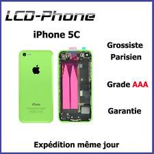 Châssis Complet Coque Arrière iPhone 5C Vert -Nappe Power+connecteur charge logo