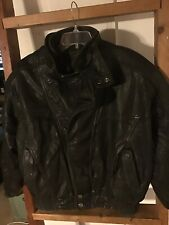 Vintage Wilsons Mens Sz L Leather Insulated Motocycle Biker Jacket Euc Asymetric