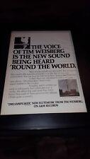 Tim Weisberg Dreamspeaker Rare Original Promo Poster Ad Framed!