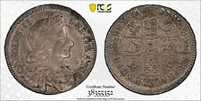 GB008 Rare 1677 Great Britain 1/2 Crown PCGS AU50