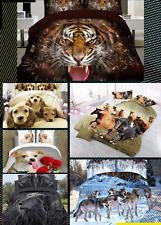 3D Animal Printed Effect Bedding Set Duvet Cover Pillowcase Sheet Queen Size