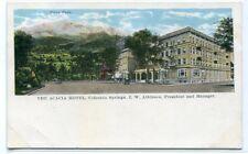 Acacia Hotel Pikes Peak Colorado Springs CO 1930s postcard