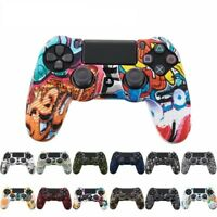 Case Skin Cover For Sony PS4 Controller Silicone Rubber Gel Grip Handle Console