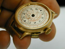 PIERCE ONE BUTTON CHRONOGRAPH  GREAT COMPLETE BALENCE WHEEL WITH NICE CASE