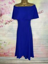 Costa impresionante Azul Real Sin Hombros Vestido Talla 16