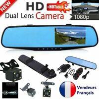 """1080P 4,3"""" Dual Lens Voiture Dash Cam DVR Recul Miroir Caméra Vidéo Enregistreur"""