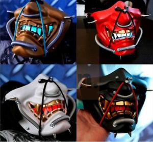 Japanese Monster Devil Hannya Noh Kabuki Demon Oni Samurai Half Face Resin Mask
