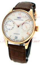 IWC Portuguese Automatic Mens Watch 7 Day Power Reserve 18kt Rose Gold IW500113