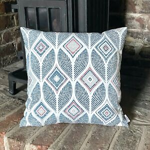 939. Artemis Indigo 100% Cotton Cushion Cover, Various sizes