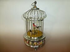 Reuge Singing Bird Cage Capodimonte Porcelain, Sterling Silver Cage (2 Birds)
