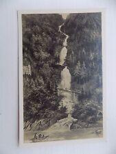 Vintage Old Postcard Giessbach Switzerland Waterfall Boat Brienzersee Unposted