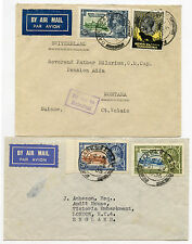 TANGANYIKA KUT 1935 SILVER JUBILEE COMMERCIALLY USED AIRMAIL to GB
