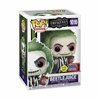 BEETLEJUICE WITH HANDBOOK GLOW NYCC 2020 US EXCLUSIVE #1010 POP! VINYL