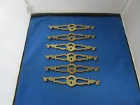"(6) VTG Furniture Back Plate Escutcheon Provincial Hardware 7.5"" KBC N13543"