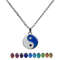 Man Funny Mood Pendant Necklace Necklace Colored Mood Change Color Perfect