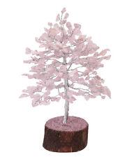 Gemstone Lucky Tree Feng shui decorative Showpiece Vastu Rose quartz Stone