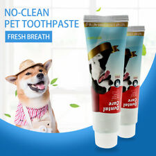 Pet Dog Cat Toothpaste Dental Clean Oral Health Care Fresh Breath Plaque Removal