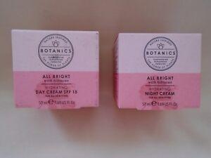 BOOTS Botanics  All Bright Hydrating SPF 15 Day & Night creams ALL skin types